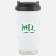 Problem Solved Golfing Stainless Steel Travel Mug