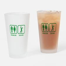 Problem Solved Golfing Drinking Glass