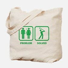 Problem Solved Golfing Tote Bag