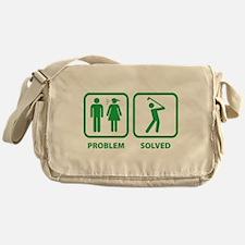 Problem Solved Golfing Messenger Bag