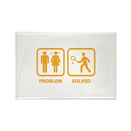 Problem Solved Tennis Rectangle Magnet (100 pack)