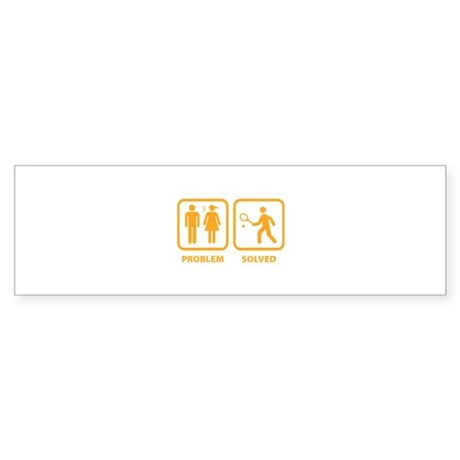Problem Solved Tennis Sticker (Bumper)