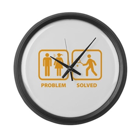Problem Solved Tennis Large Wall Clock