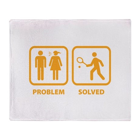 Problem Solved Tennis Throw Blanket
