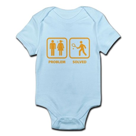 Problem Solved Tennis Infant Bodysuit
