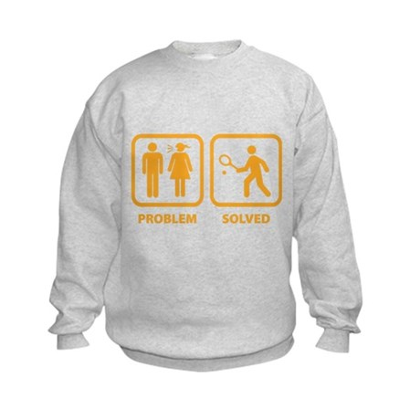 Problem Solved Tennis Kids Sweatshirt