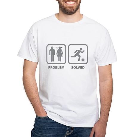 Problem Solved Soccer White T-Shirt