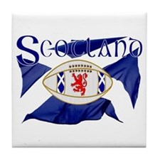 Scotland rugby flag Tile Coaster