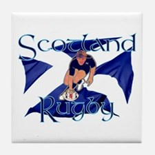Scotland rugby player Tile Coaster