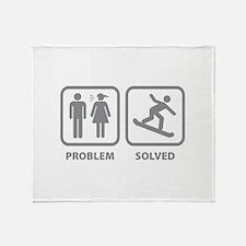Problem Solved Snowboarding Throw Blanket