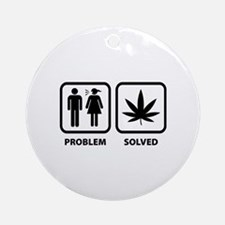 Problem Solved Weed Ornament (Round)