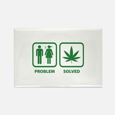 Problem Solved Weed Rectangle Magnet