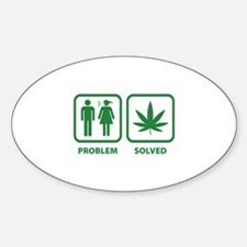 Problem Solved Weed Decal