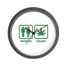 Problem Solved Weed Wall Clock