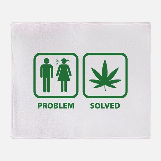 Problem Solved Weed Throw Blanket