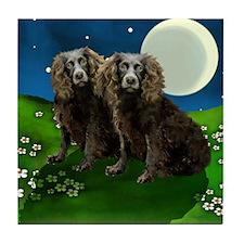 BOYKIN SPANIEL DOGS MOON Tile Coaster