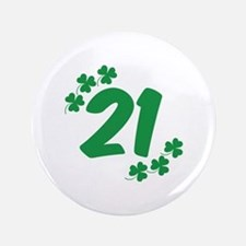 "21st Irish Birthday 3.5"" Button"