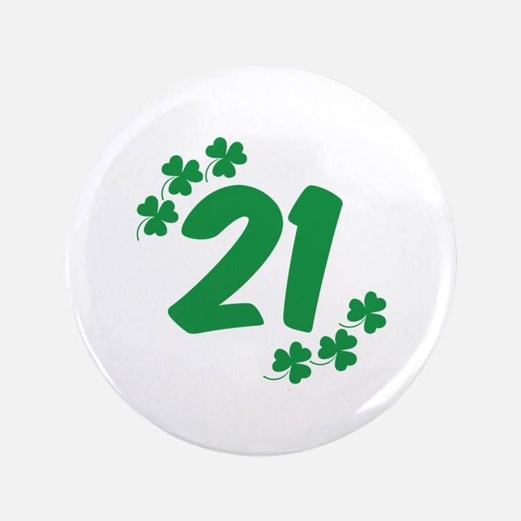 "21st Irish Birthday 3.5"" Button"