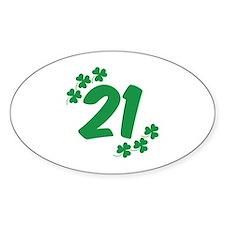 21st Irish Birthday Decal
