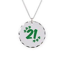 21st Irish Birthday Necklace Circle Charm
