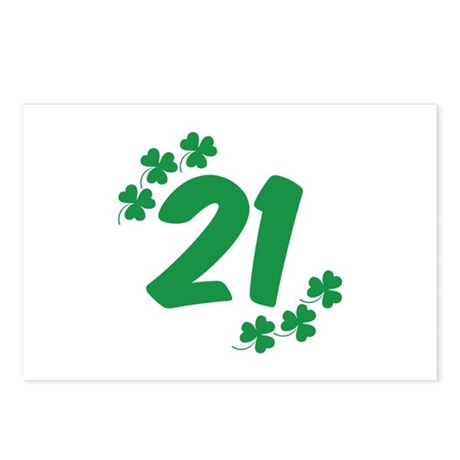 21st Irish Birthday Postcards (Package of 8)