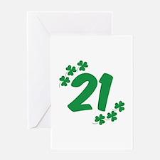 21st Irish Birthday Greeting Card