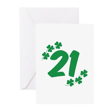 21st Irish Birthday Greeting Cards (Pk of 20)