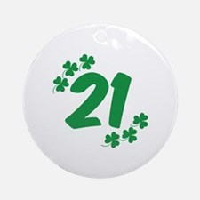 21st Irish Birthday Ornament (Round)