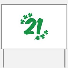 21st Irish Birthday Yard Sign