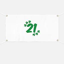 21st Irish Birthday Banner