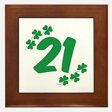 21st Irish Birthday Framed Tile