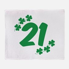 21st Irish Birthday Throw Blanket