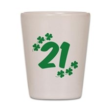 21st Irish Birthday Shot Glass