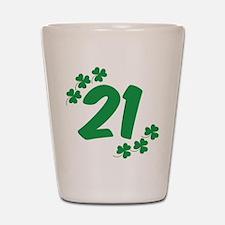 21st Irish Birthday Shot Glass