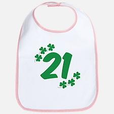21st Irish Birthday Bib