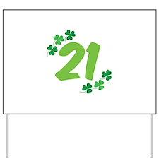 21st Irish Birthday Yard Sign