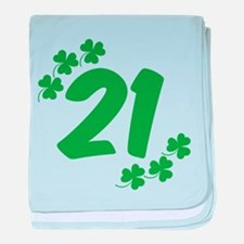 21st Irish Birthday baby blanket