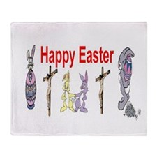 Happy Easter Christians Throw Blanket