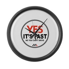 Yes Its Fast! Large Wall Clock