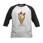 Get the cherry, Witty Kids Baseball Jersey