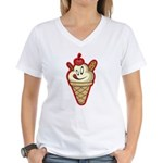 Get the cherry, Witty Women's V-Neck T-Shirt