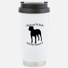I RESCUE Pit Bulls Travel Mug