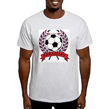 Soccer Paraguay Ash Grey T-Shirt
