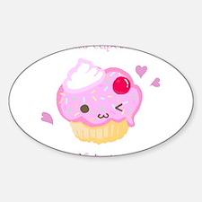 """""""Make Cupcakes, Not War"""" Sticker (Oval)"""