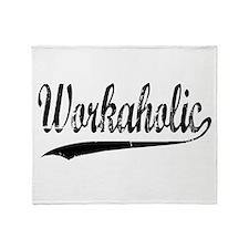 Workaholic Throw Blanket