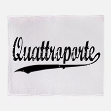 Quattroporte Throw Blanket