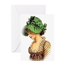 Green Bonnet Greeting Card