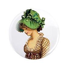 """Green Bonnet 3.5"""" Button"""