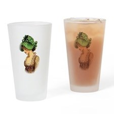Green Bonnet Drinking Glass