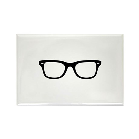 Geek Glasses Rectangle Magnet (100 pack)